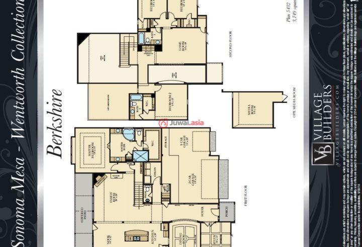 欧式豪华别墅平面图
